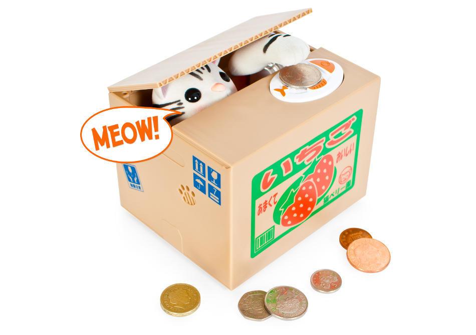 """Kitty Bank -- Combina economisirea cu doza ta zilnica de """"Aaaaaawww"""""""