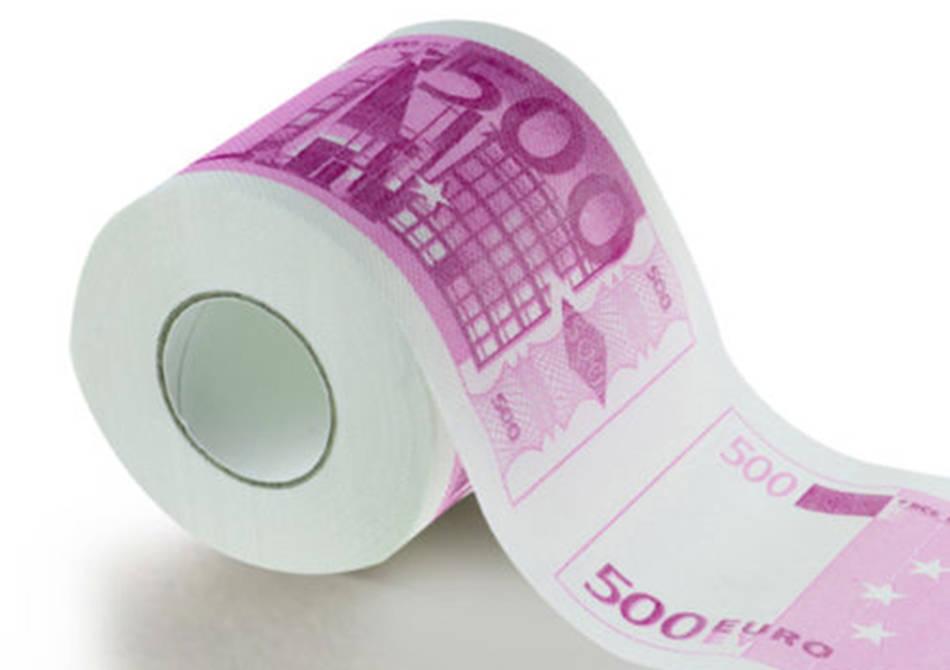 Hartie igienica 500 de euro -- Traieste in stilul miliardarilor