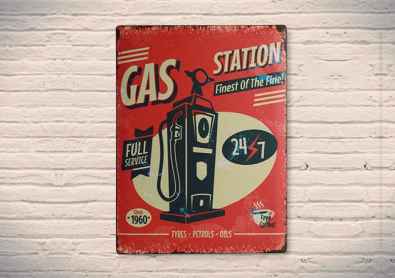 Gas Station -- fa plinul din energii retro. image
