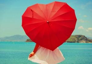 Umbrela Ploaie Inima — o pata de culoare. Be my Valentine, forever!