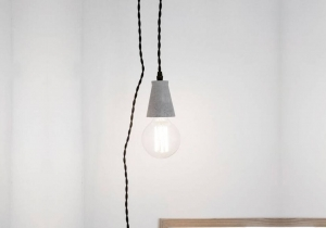 Lampa din ciment - Minimalism la puterea luminii