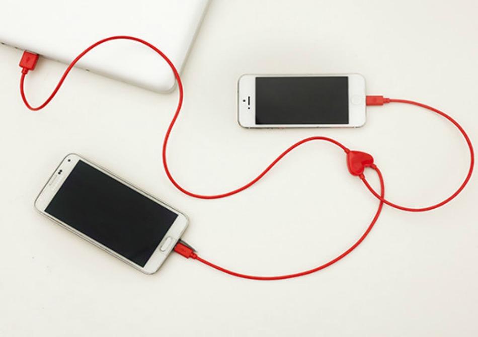 Cablu Dual Heart - Imparte iubire si energie deopotriva