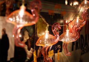 Sir de lumini Flamingo --  La vie en rose!