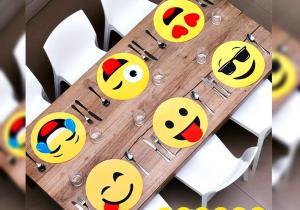 Sub-farfurii Emoji -- Servesti trendo-tematic