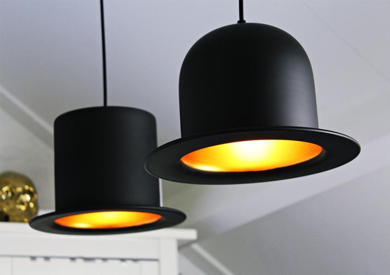 Lampa BOWLER si TOP -- negru auriu image