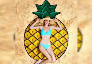 Patura plaja Ananas -- compot de confort & fericire