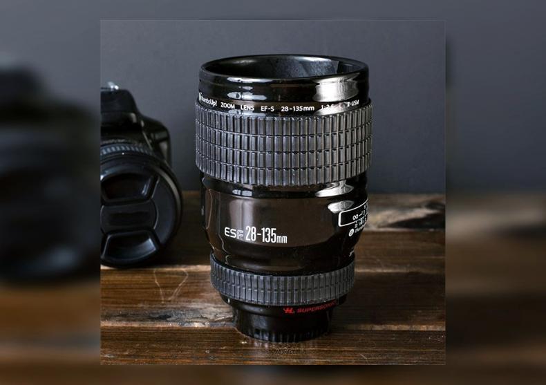 Cana ceramica obiectiv foto  -- Serveste cu pasiune hobby-ul tau  image