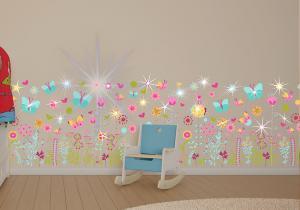 Sticker decorativ kids -- Floricele si fluturasi pentru bucuria celor mici