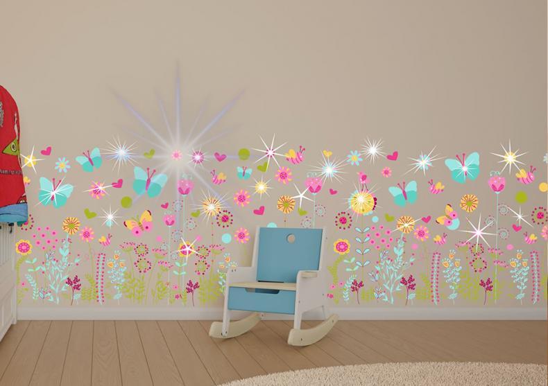 Sticker decorativ kids -- Floricele si fluturasi pentru bucuria celor mici image