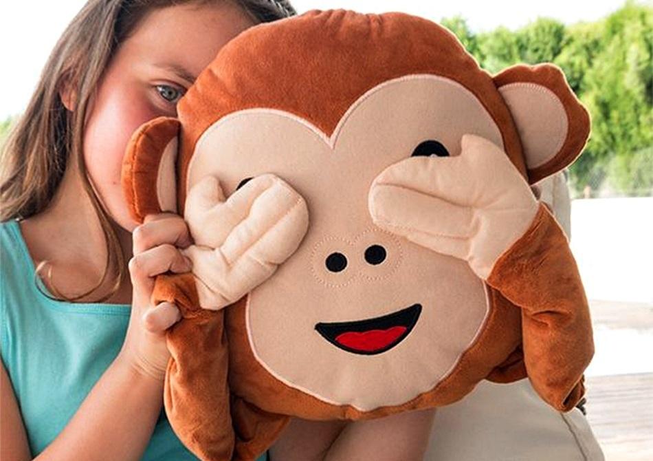 Perna Monkey emoji -- Pufosenie cu maini lungi