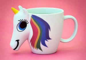 Cana termosensibilia 3D Unicorn -- Gusta curcubeul