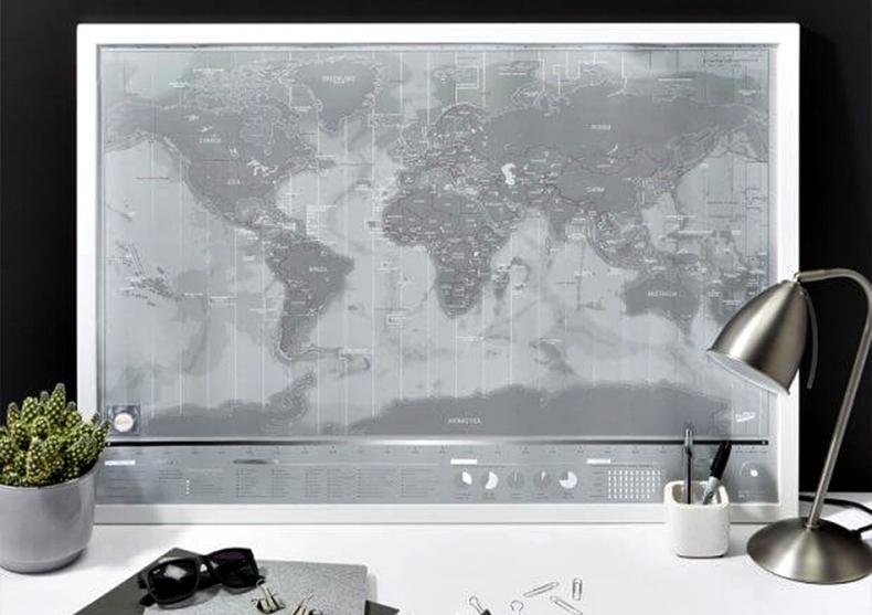 Harta razuibila Platinum -- superior metalic image