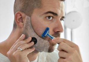 Sablon pentru barba -- Gata cu banii cheltuiti pe frizerie!
