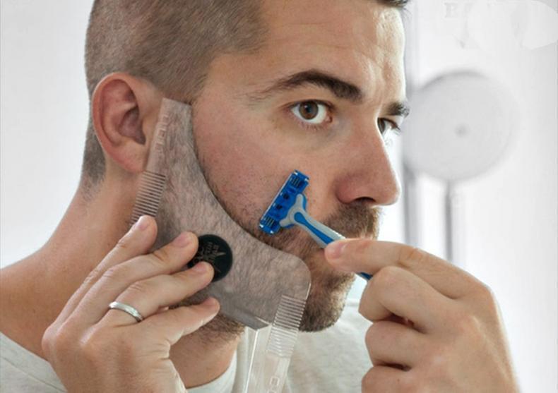 Sablon pentru barba -- Gata cu banii cheltuiti pe frizerie! image