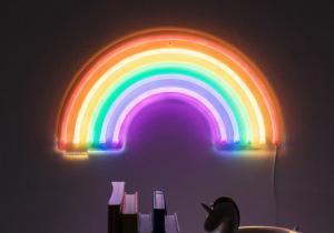 Lampa neon curcubeu -- Minunea cereasca