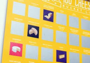 Tablou razuibil 100 branzeturi -- Posterul branzo-maniacului