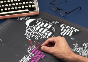 Harta Razuibila Typogeography -- Lumea in culori