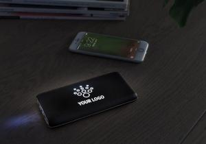 Powerbank Wireless Light-up Logo -- Personalizeaza-ti bateria