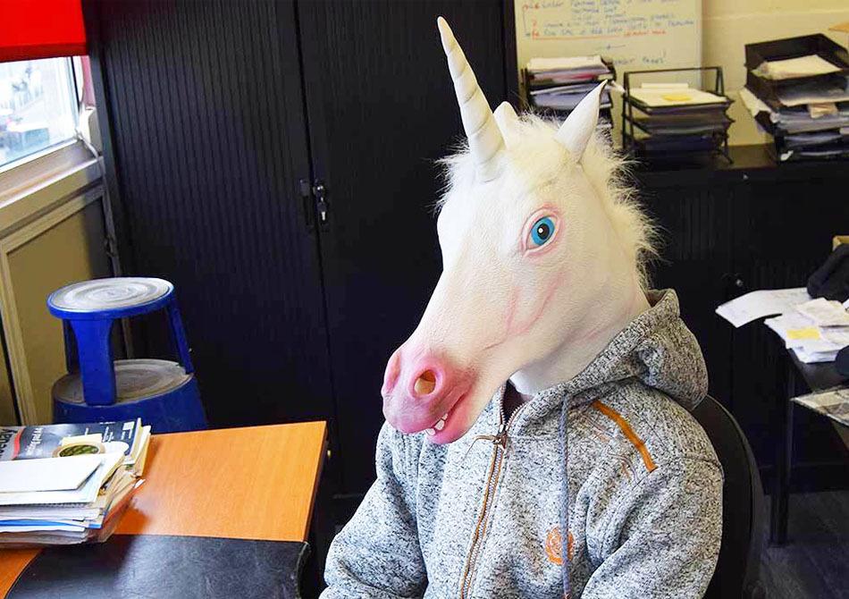 Masca unicorn -- Photo-bombing pentru profesionisti!