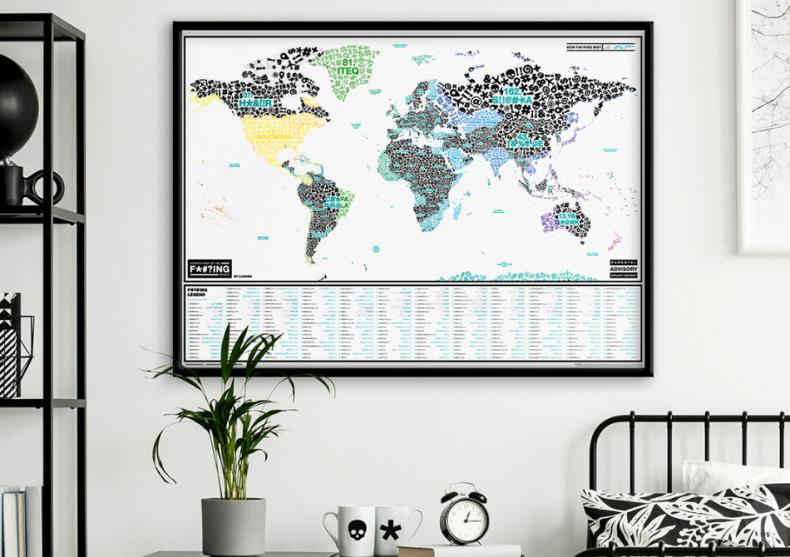 Harta razuibila F*#?ing World -- Descopera injuraturile mapamondului image