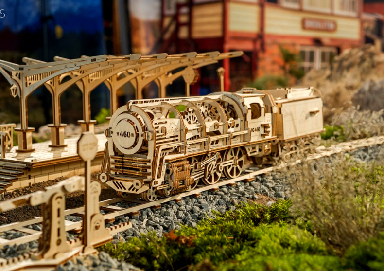 Set calator -- Locomotiva, peron si cale ferata image