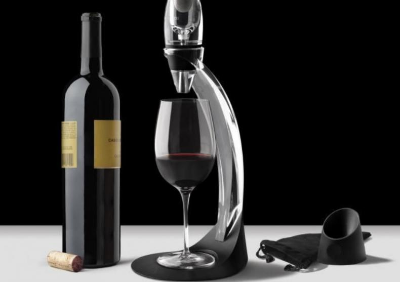 Decantor vin Deluxe -- Aerator cu stand image