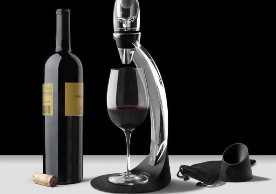 Decantor vin Deluxe -- Aerator cu stand