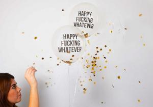 Baloane obraznice cu glitter -- Brutal de oneste