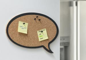 Speech bubble din pluta -- Comunica prin post-it-uri