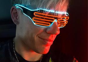 Ochelari neon -- Funky party