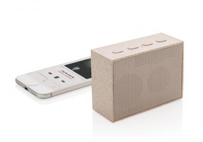 Wheat straw mini speaker -- rasuna natural