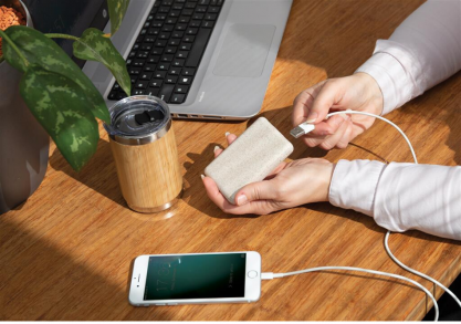 Wheat straw powerbank -- ultra-compact