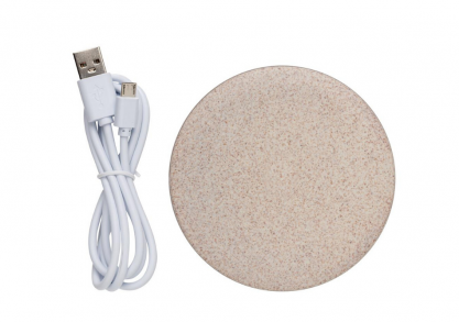 Wheat straw wireless charger -- 5W, ultra subtire