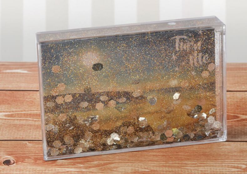 Rama Glitter-- Cascada prafului aur holografic image