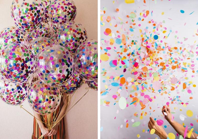 Sfere Confetti -- pentru petreceri in toata regula image