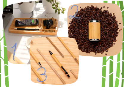 Set *Work from home* bamboo -- esentiale naturale