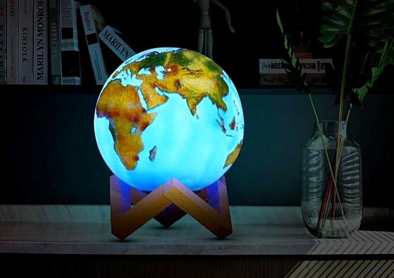 Lampa Glob 3D -- decoratiune cu stativ image