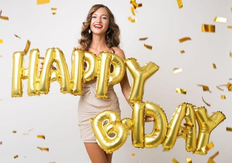 "Balon ""Happy Bday"" -- un ""La multi ani"" extra-large image"