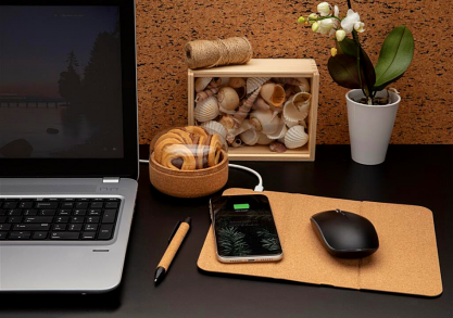 Mousepad Cork Wireless -- eco din pluta