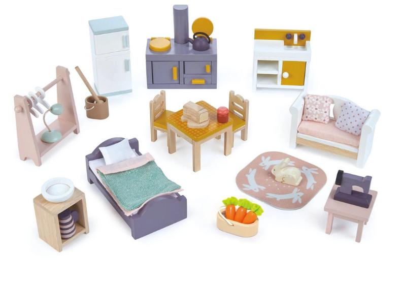 Set mobilier principal Cottontail -- dormitor, bucatarie, camera de zi image