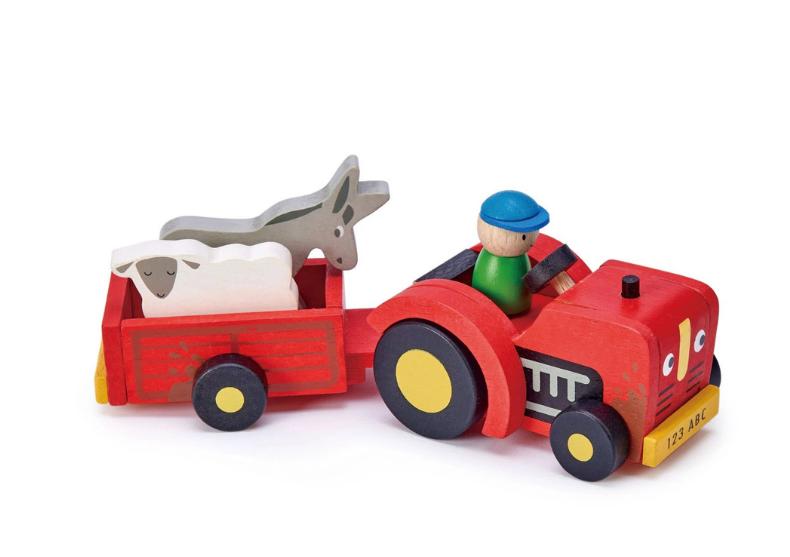 Tractor cu remorca -- tractor, sofer, animale image