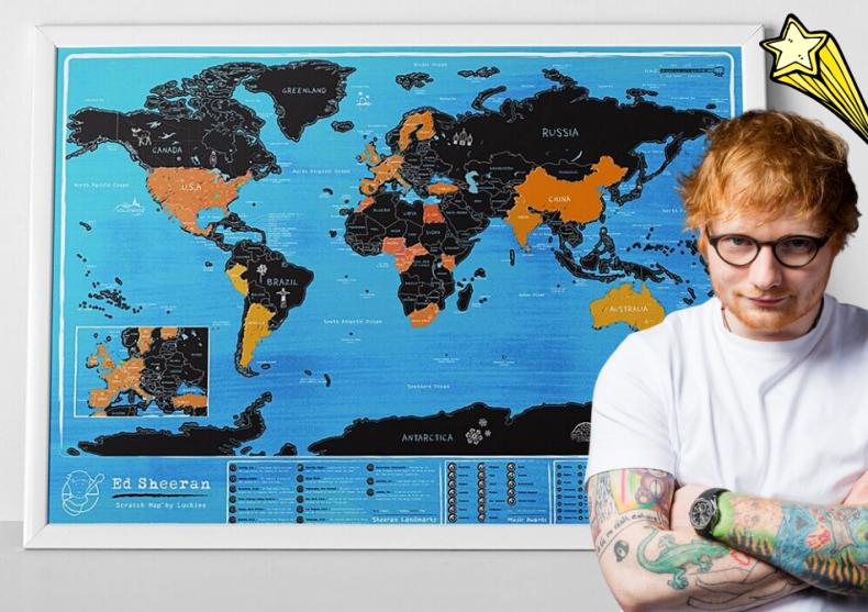 Harta razuibila Ed Sheeran -- Razuieste cu o pana de chitara image
