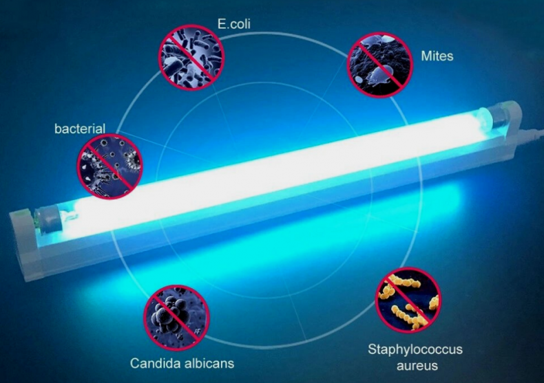 Lampa antibacteriana UV Ozone -- spatii dezinfectate image