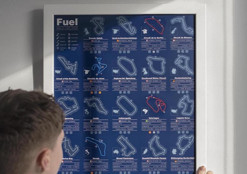 Tablou razuibil Fuel -- 24 circuite faimoase image
