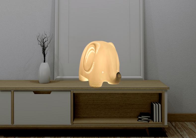 Lampa Elefant portelan -- copii il adora image