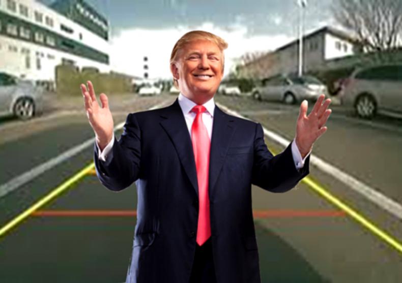 Farsa camera Trump -- camera, vizor  image