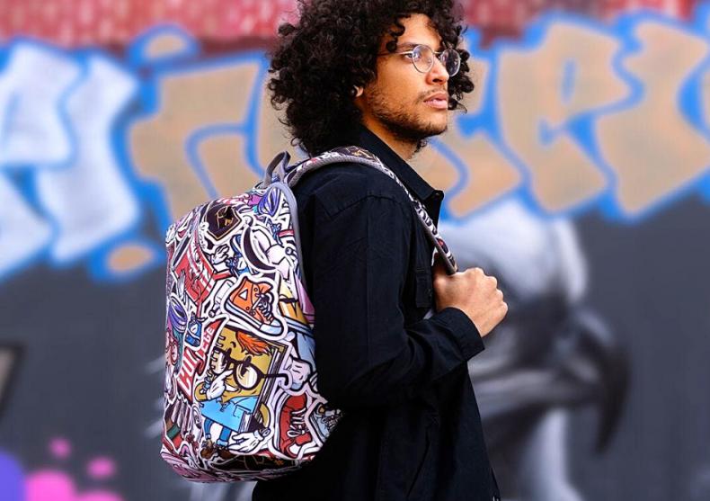 Rucsac antifurt Bobby soft graffiti -- arta 100% image