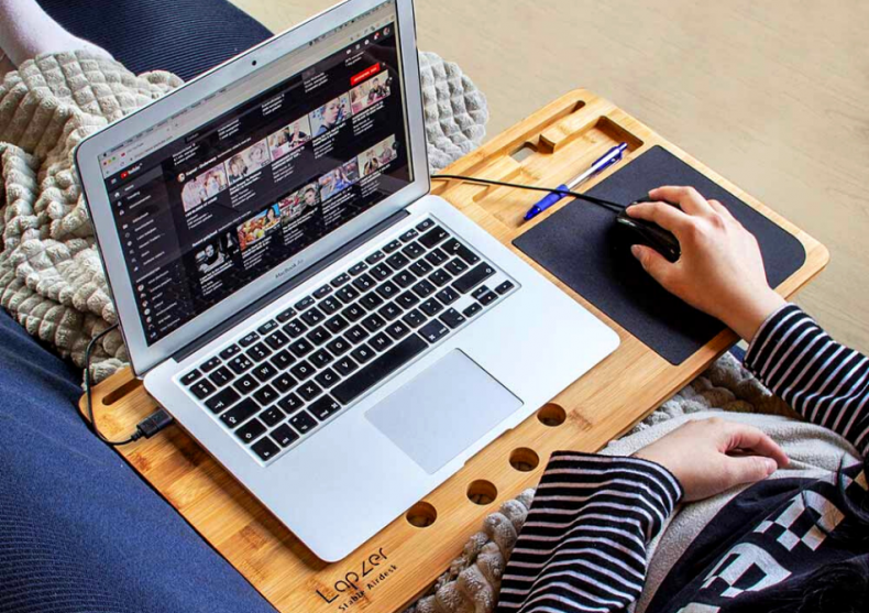 LapZer suport masa laptop -- work de pe canapea image